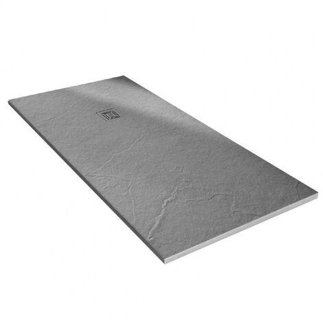Merlyn TrueStone Rectangular Shower Tray with Waste 1200mm x 800mm - Fossil Grey