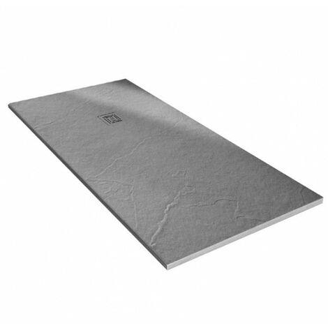 Merlyn TrueStone Rectangular Shower Tray with Waste 1200mm x 900mm - Fossil Grey