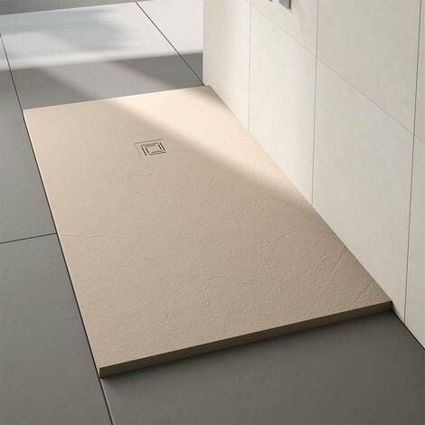 Merlyn TrueStone Rectangular Shower Tray with Waste 1200mm x 900mm - Sandstone