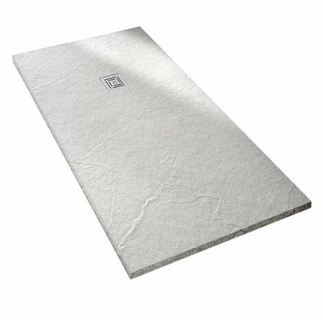 Merlyn TrueStone Rectangular Shower Tray with Waste 1400mm x 800mm - White