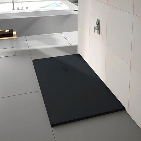 Merlyn TrueStone Rectangular Shower Tray with Waste 1500mm x 800mm - Pure Black