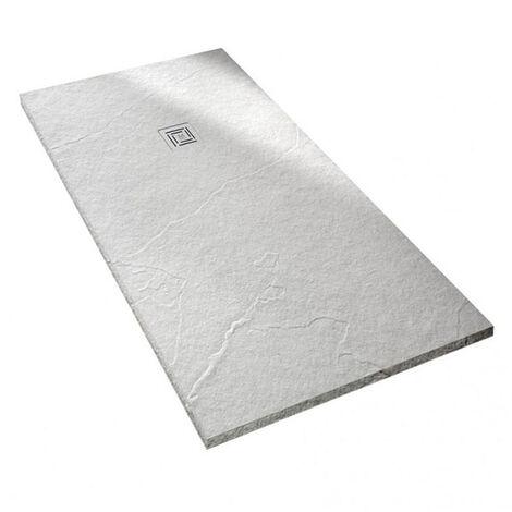 Merlyn TrueStone Rectangular Shower Tray with Waste 1600mm x 800mm - White