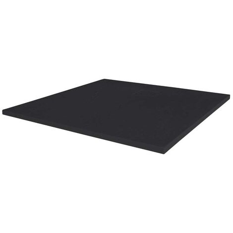 Merlyn TrueStone Square Shower Tray with Waste 900mm x 900mm - Pure Black