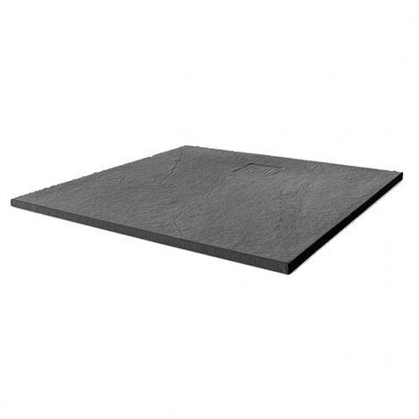 Merlyn TrueStone Square Shower Tray with Waste 900mm x 900mm - Slate Black