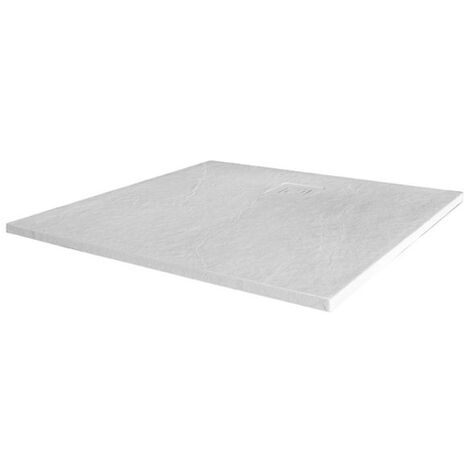 Merlyn TrueStone Square Shower Tray with Waste 900mm x 900mm - White