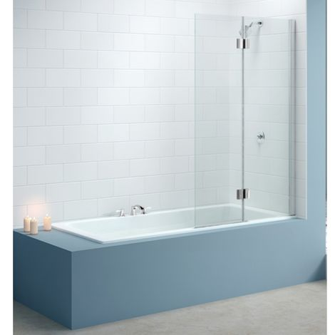 Merlyn Two Panel Standard Hinged Bath Shower Screen Right Hand