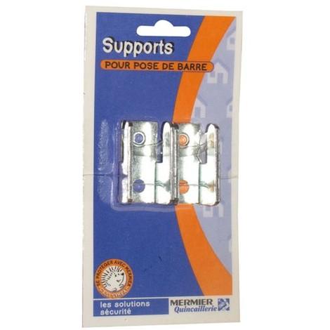 MERMIER - Support ouvert pour barre zinguée - lot de 2