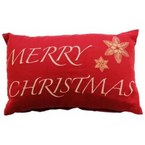 Merry Christmas Red Cushion Cover 32x50cm Snowflakes