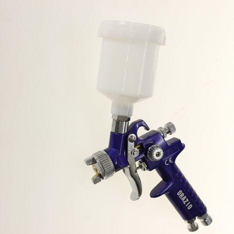 Merry Tools Mini Paint Spray Gun H.V.L.P Aluminum Gun 200CC Cup 1.0mm Nozzle,Gravity