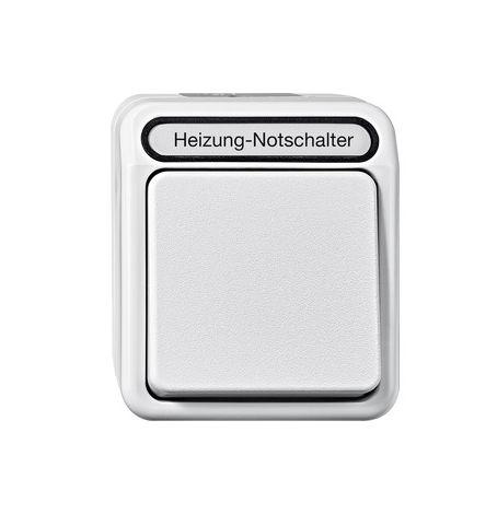 Merten Aquastar Heizungs-Notschalter Aus 3polig Kontrolllicht MEG3643-8029 Grau
