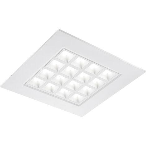 Merti LED recessed panel in white, 4,000K