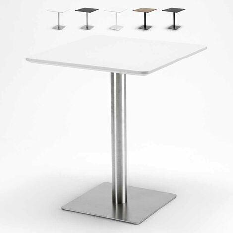 "main image of ""Mesa 60x60 cuadrada con pedestal central para bar restaurante HORECA"""