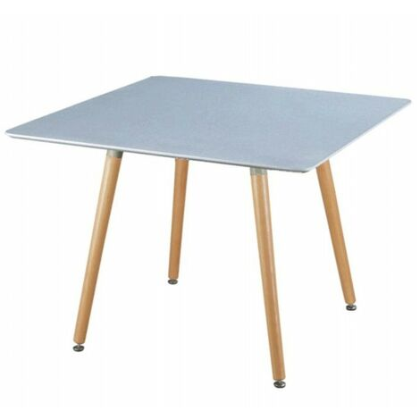 Mesa 80x80 cm Gris con patas de madera de haya | gris