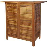 799740bc7d96 Mesa alta de bar de madera de acacia maciza 110x50x105 cm