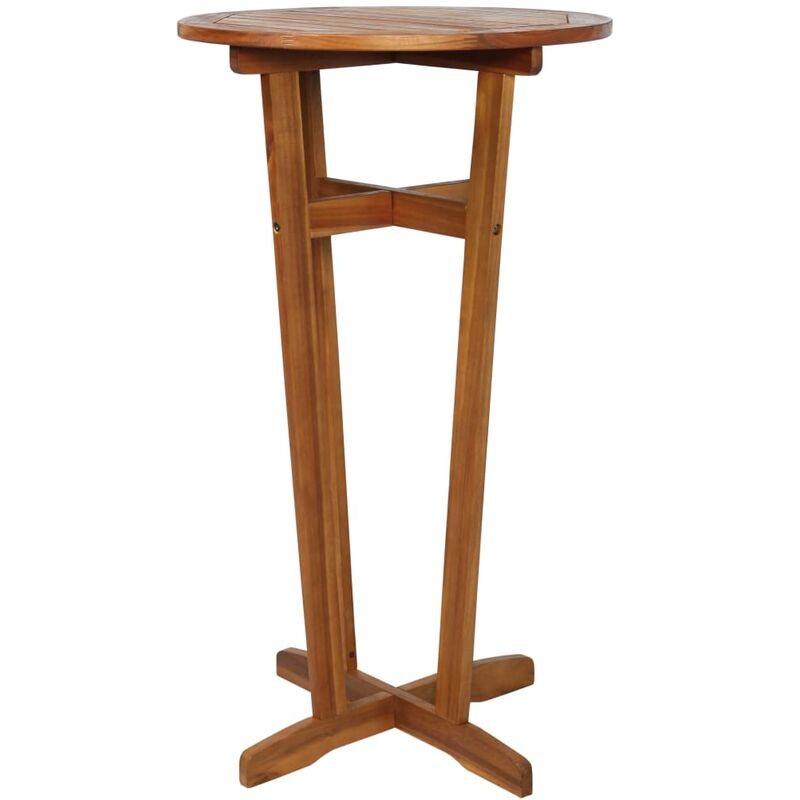 fd270c3dee28 Mesa alta de bar de madera de acacia maciza 60x105 cm -
