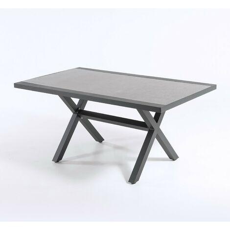 Mesa auxiliar de jardín | Tamaño: 80x140x65 cm | Aluminio reforzado