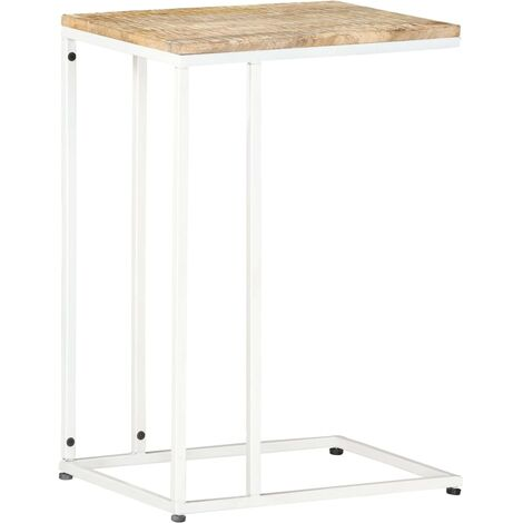 Mesa auxiliar de madera maciza de mango 35x45x65 cm