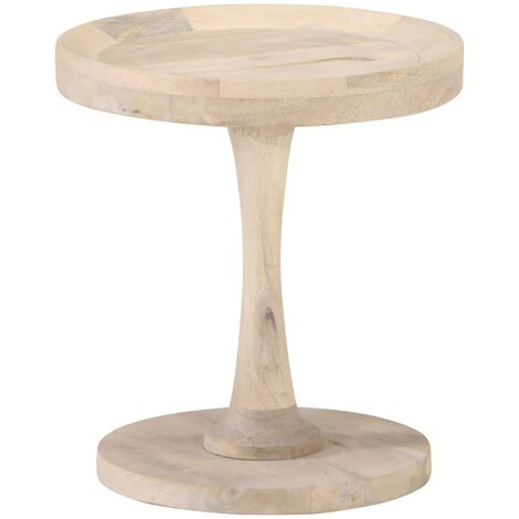 Mesa auxiliar de madera maciza de mango Ø40x45 cm - Marrón