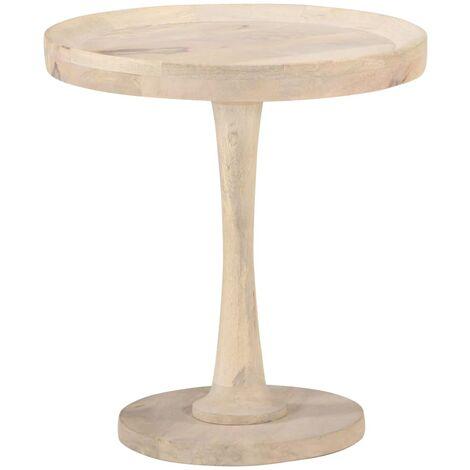 Mesa auxiliar de madera maciza de mango Ø50x55 cm - Marrón