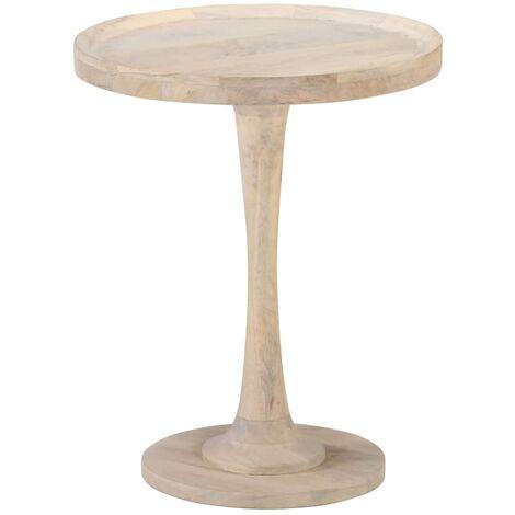 Mesa auxiliar de madera maciza de mango Ø60x75 cm - Marrón