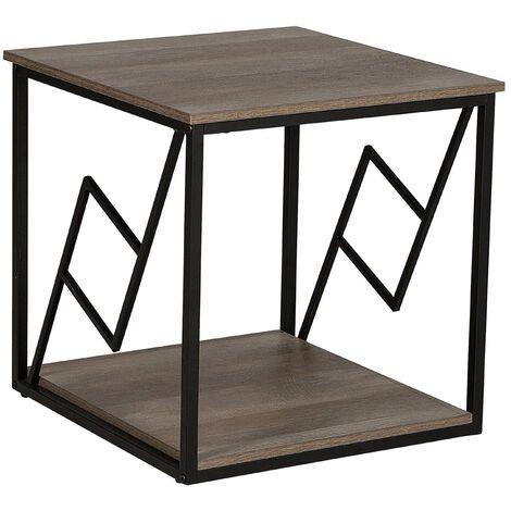 Mesa auxiliar en madera oscura FORRES