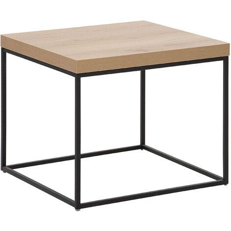 Mesa auxiliar madera clara/negro DORRIS