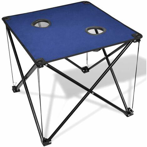 Mesa azúl plegable para camping - Azul