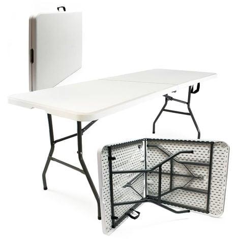 Mesa camping plegable portátil Jardín Exterior Outdoor Accesorios Mobiliario Plástico Resistente