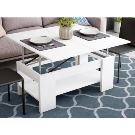 Mesa centro elevable convertible en mesa de comedor en acabado de varios colores 44 cm(alto)110 cm(ancho)58 cm(largo)