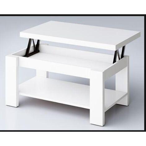 Mesa centro elevable cuatro colores a elegir 51 cm(alto)110 cm(ancho)55 cm(largo) Color Blanco