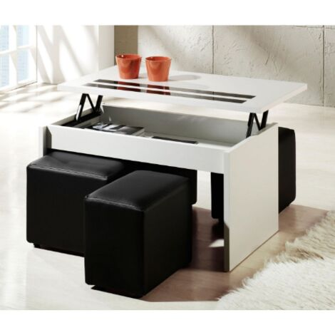 Mesa centro elevable dos colores a elegir 50 cm(alto)101 cm(ancho)55 cm(largo)