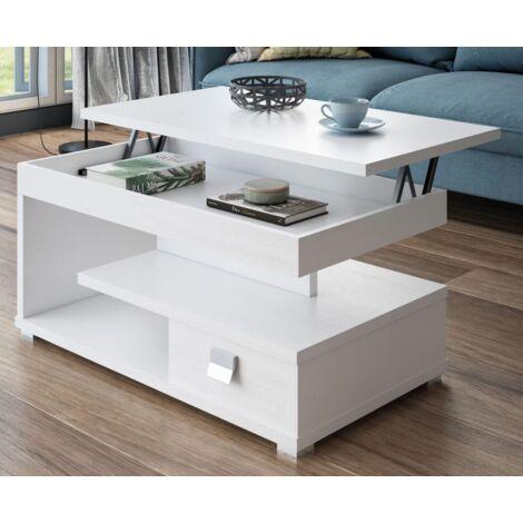 Mesa centro elevable varios colores a elegir 51 cm(alto)111 cm(ancho)56 cm(largo) Color Blanco