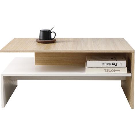 Mesa Centro Moderna Mesa de Café--- para Salón Mesa Baja Mezcla 90*42*60cm