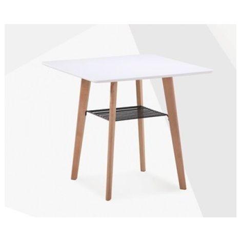 Mesa cocina auxiliar, madera, lacada blanca, 80 x 80 cms