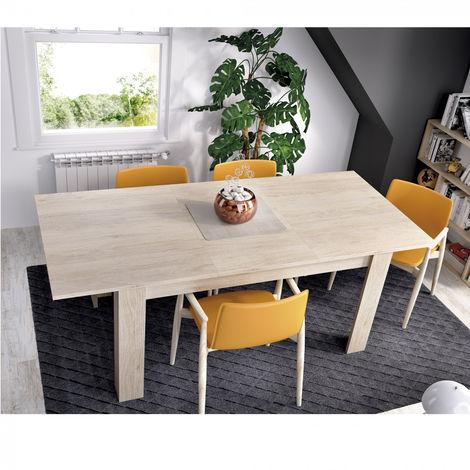 Mesa cocina comedor extensible de 140cm hasta 191cm de 90cm de ancho NATURAL