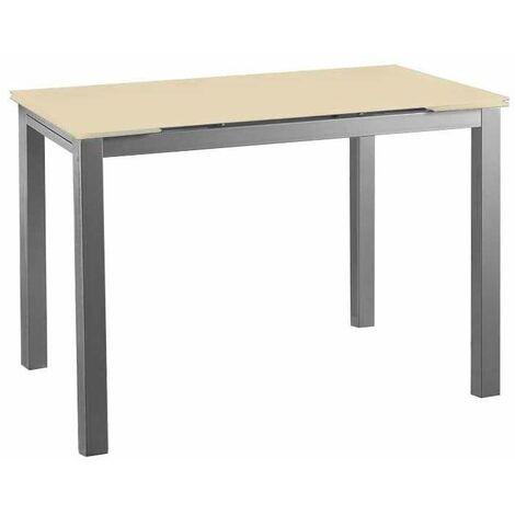 Mesa cocina extensible cristal Barcelona