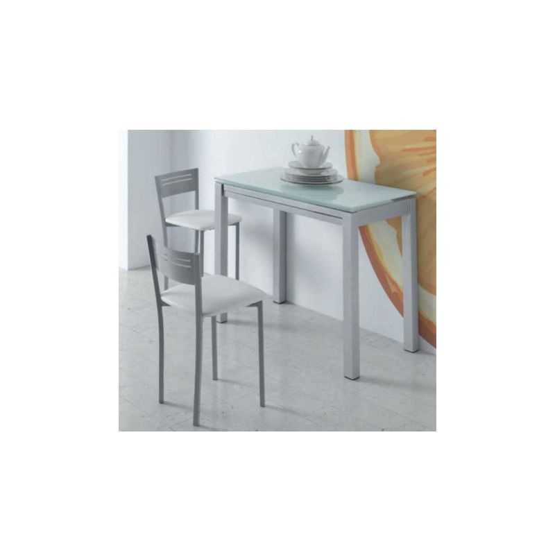Mesa cocina extensible frontal blanca o negra
