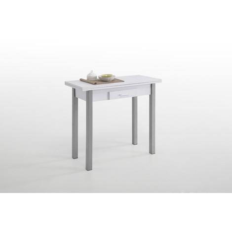 Mesa Cocina Libro Blanca 1Cj 40-80X90 - CLOSET NORTE - 70408