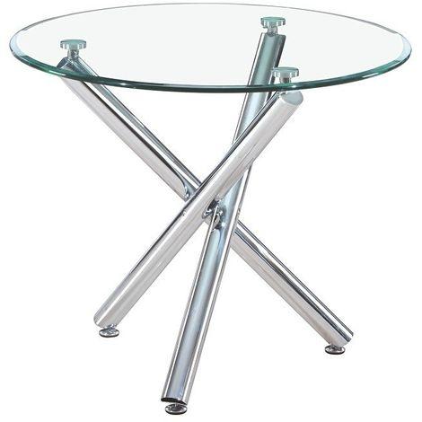Mesa cocina o comedor cristal, 90 cms diámetro