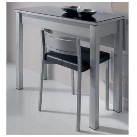 Mesa cocina plegable cristal 2 colores