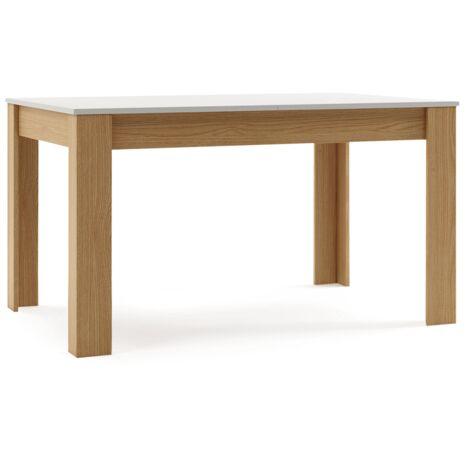 Mesa comedor extensible moderna madera mesa cocina 140/190x90x78cm