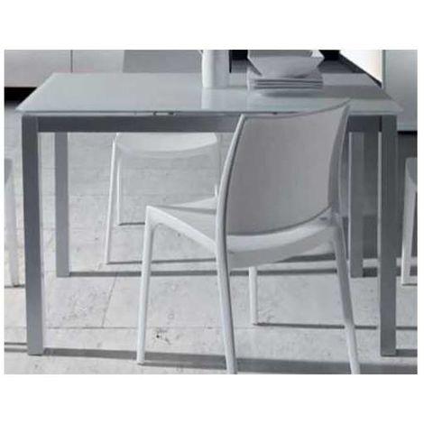 Mesa comedor o cocina fija cristal blanco Color Blanco