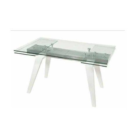 Mesa comedor rectangular Kentro extensible cristal