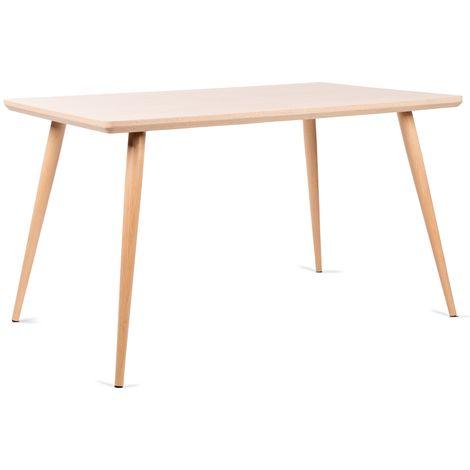 Mesa comedor Rectangular mesa cocina Salon diseño madera MDF 128,5x78,5x75cm