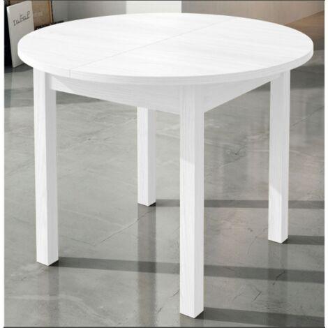 Mesa comedor redonda extensible de 94 cm .