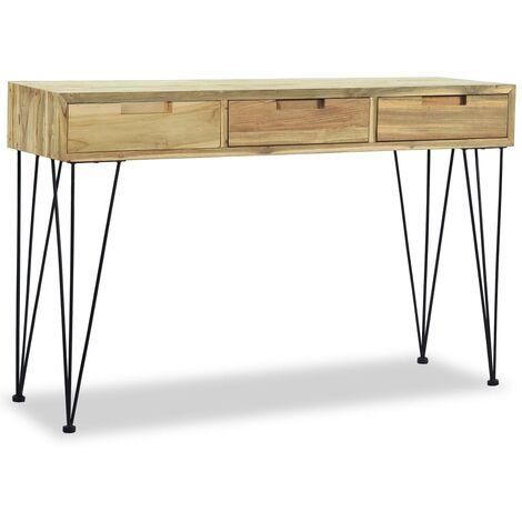 Mesa consola 120x35x76 cm madera de teca maciza