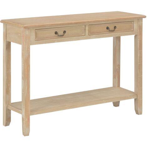 Mesa consola de madera 110x35x80 cm
