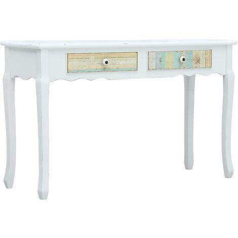 Mesa consola de madera blanca 120x40x74,5 cm