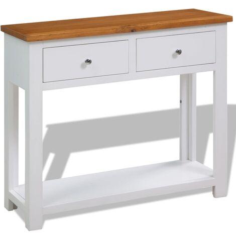 Mesa consola de madera de roble 83x30x73 cm