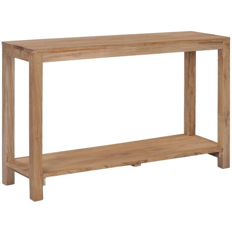 Mesa consola de madera de teca maciza 120x35x75 cm